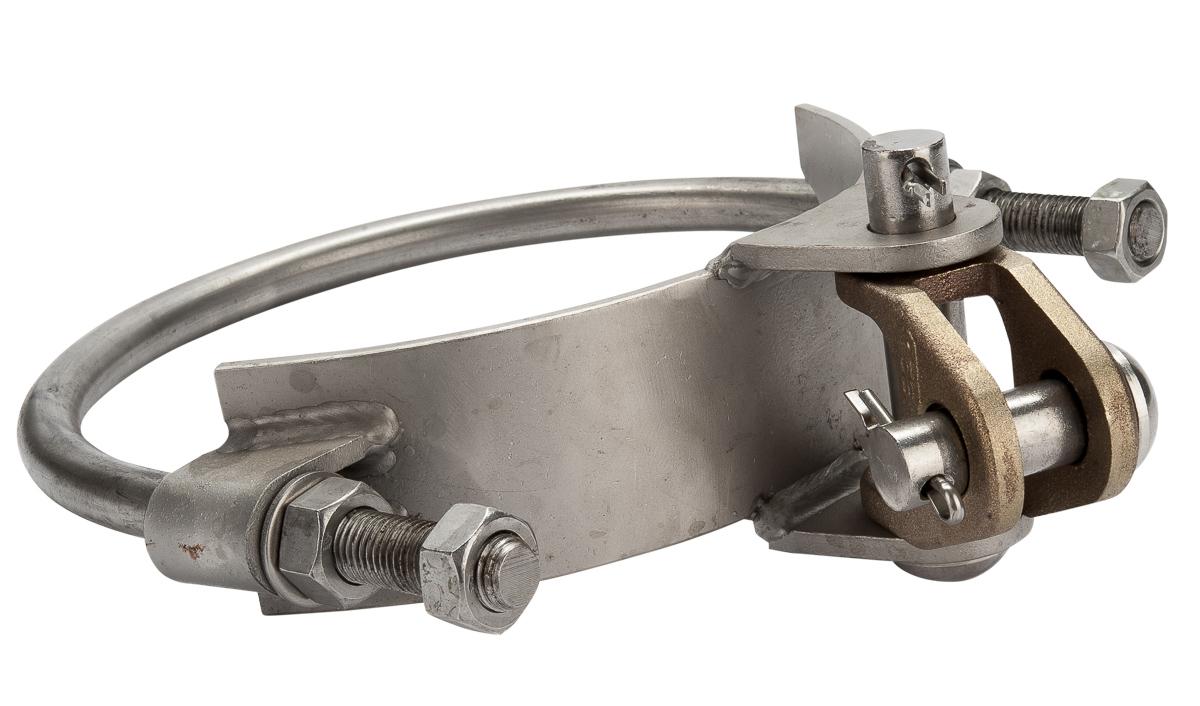 027029 Mastring 219 RVS Scharnierdeel met vork dubbel